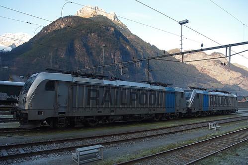 CH Railpool 187 006+187 007 Erstfeld 11-12-2016