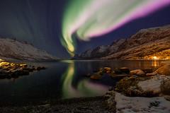 Christmas Day Aurora (John A.Hemmingsen) Tags: auroraborealis arcticlight tromsø ersfjordbotn snow winter nordnorge night fujifilm xt2 fujinon fujinon1024