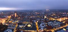 Leipzig at Night (Fabian F_) Tags: leipzig panorama night tower city nacht germany deutschland weihnachtsmarkt christmas market