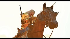 Horse power (simonmino) Tags: witcher3 geralt horse roach combat crossbow