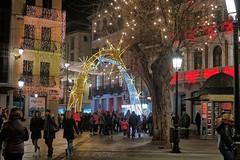 Navidad en Toledo Spain (Plaza Zocodover) (joseange) Tags: navidad toledo spain red night street christmas people
