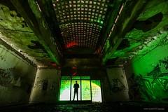 Green Manalishi (john&mairi) Tags: power station rural scotland abandoned disused derelict urbex skylight graffiti figure silhouette scott lightpainting greenmanalishi fleetwoodmac petergreen lsd
