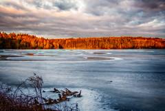 Sunrise-1-17 (desouto) Tags: nature landscape rivers lakes snow ice sky trees sunrise sunset colors