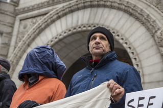 Carmen Trotta Participates in an Anti-Torture Demonstration Outside Trump International Hotel in Washington, DC