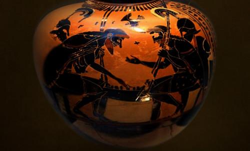 "Petteia - Ludus Latrunculorum  / Iconografía de las civilizaciones helenolatinas • <a style=""font-size:0.8em;"" href=""http://www.flickr.com/photos/30735181@N00/32143107020/"" target=""_blank"">View on Flickr</a>"