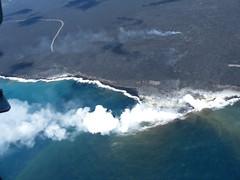 Halema'uma'u Crater - Aerial view (Eliza G.) Tags: hawaii halemaumaucrater aerialview helicopter bigisland volcanonationalpark volcano ocean lava