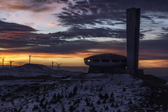 Buzludzha (ilian_bozhanov) Tags: buzludzha bulgaria sunrise sunset sky sun sunlight snow outdor