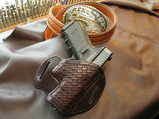 GIBSON BLACK CHERRY STAR BASKET TLF AVAILABLE FOR GLOCK AND 1911