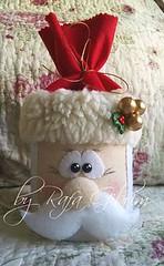 Lata enfeitada de Papai Noel (reutilizando latas) (Feito a mão [by Rafa]) Tags: feltro fieltro felt rafagibrim fofo cute enfeite presente lembrança artesanato natal lata reutilização reaproveitamento reciclagem papainoel