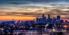 Night Over Minneapolis (Paul Domsten) Tags: skyline dusk sunset sky minneapolis minnesota pentax ridgewayparkwaypark 70mmlimitedf24 longexposure ids wellsfargo capellatower usbankstadium boyertrucks