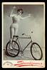 f_biketricklady (ricksoloway) Tags: cabinetcards vintagephotos antiquephotos oldphotos photohistory funonwheels bikes bicycles tricks biketricks