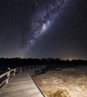 Milky Way over Lake Clifton