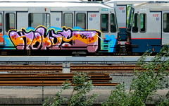 Graffiti (oerendhard1) Tags: urban streetart art train graffiti rotterdam metro painted vandalism hotus