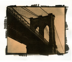 Brooklyn Bridge (Alexander Tkachev) Tags: gum brooklynbridge palladium alternative gumbichromate alternativephotography altprocess palladiumprint revereplatinum