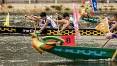 018 Dragon boat (antoniobaz) Tags: china sea party water rio race tin boat mar kayak fiesta dragon paddle hong kong ng sha carrera bote