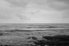Mumbai (Shaunak Modi) Tags: sea blackandwhite india water monochrome shore monsoon maharashtra mumbai worli seaface