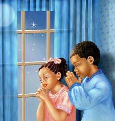 The Prayer (doinaparas) Tags: people children prayer africanamericanchildren pastelchildrenillustration realisticchildrenillustration