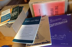 Some books from Cecil on the Anthroposophical Society and Anthroposophy. (spelio) Tags: travel australia email act ipad australiancapitalterritory 2015