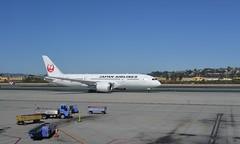 JAL JA825J 787 SAN 2-2-16 1 (THE Holy Hand Grenade!) Tags: jet japanairlines boeing 7878 lindberghfield sandiegointernationalairport san sandiegoca nikond610 nikkor35mmƒ2afd geotagged