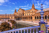 Spanish Square in Sevilla, Spain (Dragomir Nikolov Photography) Tags: sevilla travel outdoor tower arch square historical town andalucia urban landmark majesty old hall building seville channel famous arabian architecture spanish city bridge plaza cityscape andalusia