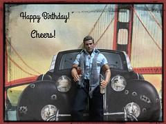 Happy Birthday Rich!! (Land of Dolls) Tags: car actionfigure hobby 16th jake wine bridge scarf bulletholes
