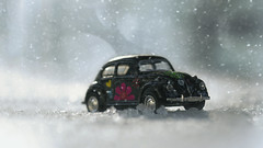 When I Get Home (charhedman) Tags: lovebug natalie christmasgift vwbeetle beatles snow ice driving