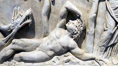 Jonah (in pose of Endymion) close view, Santa Maria Antiqua Sarcophgus