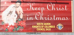"""THE ABOVE BILLBOARD WAS ERECTED AT 1775 S MAIN ST, AKRON OHIO. IT WAS MADE POSSIBLE BY THE  SOUTH AKRON KNIGHTS OF COLUMBUS #3410, WALT AND JOAN CYC, OWNERS OF THE LOCATION AND DONATIONS FROM AREA BUSINESSES. THE KNIGHTS HAVE BEEN ENVOLVED FOR OVER 7 YEAR • <a style=""""font-size:0.8em;"""" href=""""http://www.flickr.com/photos/98129408@N05/31560923136/"""" target=""""_blank"""">View on Flickr</a>"""