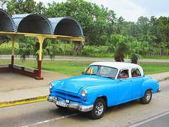 Blue Classic Car in Cuba (shaire productions) Tags: car vehicle image classic vintage retro classiccar picture imagery automotive automobile street urban road driving drive blue cuba cuban travel photo photograph photography
