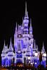 Magic at Disneyworld ( Explored) (ildikoannable) Tags: nightphoto lights illumination castle disney disneyword disneycastle magic florida orlando colour vivid blue princess nikon 50mm
