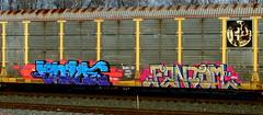 value - fantom (timetomakethepasta) Tags: value h2 fantom sfm freight train graffiti art autorack bnsf benching new york selkirk photography rusted crisp hurry up and wait