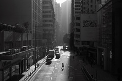Sunrise at Asphalt Valley (Eddie HBH) Tags: cityscape sunrise streetphotography blackandwhite leica summicron