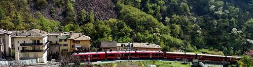 el tren rojo de Tirano a St.Moritz