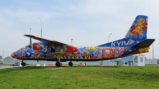 Antonov An.24B c/n 07306507 registration UR-47287 preserved in front of the terminal as
