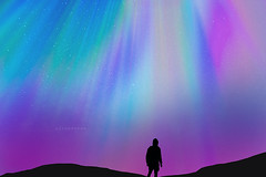 """Lights. (¡arturii!) Tags: wow amazing awesome superb interesting stunning impressive nice beauty great arturii arturdebattk """"canonoes6d"""" gettyimages travel trip tour route viatge holidays vacations cool aurora borealis boreales northernlights colorful colors sky falling night winter cold iceland island islandia beautiful silhouette guy nature landscape outdoor stars purple mountains"""