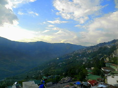 Hills, Gangtok (moon@footlooseforever.com) Tags: gangtok sikkim cityscape hill mountains ropeway panorama