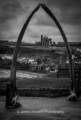 Through the Arch (jameshowardphotography) Tags: whitby black yorkshire north northyorkshire northeast northern night day mono monochrome abbey architecture bones whale clouds