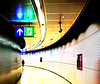Space time distortion field, Helsinki Airport, Finland March 2016 (Juha Riissanen) Tags: processed tunnel distortion helsinki airport finland curved person signals scifi