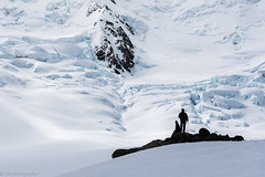 Feeling stranded on an island in a sea of ice (tyil.pics) Tags: mtcook nationalpark snow ice glacier rock silhouette white nikond810 newzealand