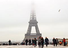 Eiffel Tower In Fog (svenhajna) Tags: eiffelturm toureiffel paris fog nebel