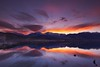 blaze of glory (Andy Kennelly) Tags: eastern sierra mountains snow reflection clouds colorful lake mono salt