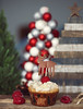 (sarajdsign) Tags: food cupcakes dessert raspberry frosting christmas tree pine