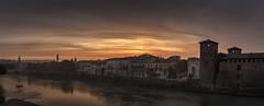 Awakening (MarkWaidson) Tags: verona italy adige castelvecchio sunrise river panoramic arcodeigavi waidson imagesfromthedarkside