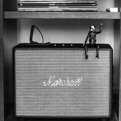 marshall rock (nicouze) Tags: marshall amps rock daftpunk figure figurine thomas nicouze bw blackandwhite noiretblanc france vinyl frenchtouch square carré carréfrançais ampli enceinte woburn