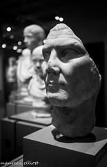 """""""Heads Up"""" (maureen.elliott) Tags: museum heads sculptures art bust blackandwhite stilllife"""