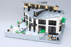 LEGO City - House of Culture (O0ger) Tags: moc lego building moduverse swebrick town architechture modern city