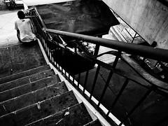 Stairway To Loneliness (Meljoe San Diego) Tags: meljoesandiego ricoh ricohgr gr streetphotography street stairway candid blackwhite patterns lines