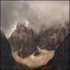 Wolkennebel in den Dolomiten (angelofruhr) Tags: supershot berge mountains dolomiten sexten clouds