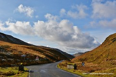 DSC_0632 (stephanie.burgess97) Tags: rhayader aberystwyth road snow mountains signs hills countryside clouds blue sky wales uk elan valley