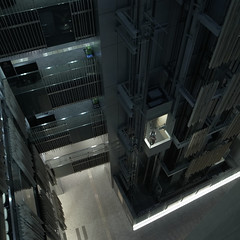 elevator (akhr1961) Tags: gr4 glassbox void